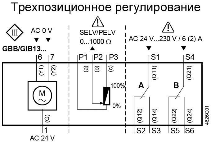 privod_Siemens_GBB_25nm_24V_shema_soedineniy_tryohpozitsionnoe