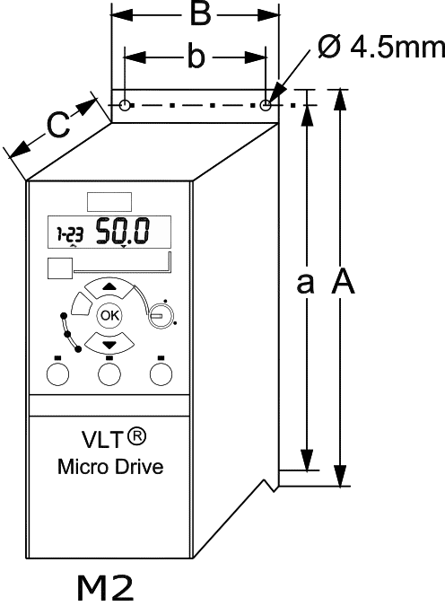 preobrazovatel_chastoti_Danfoss_VLT_micro_drive_FC51_gabaritnie_razmeri