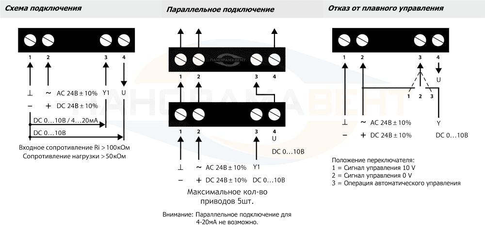 shema_podklyucheniya_privoda_Lufberg_DA04N24P_k_klapanu