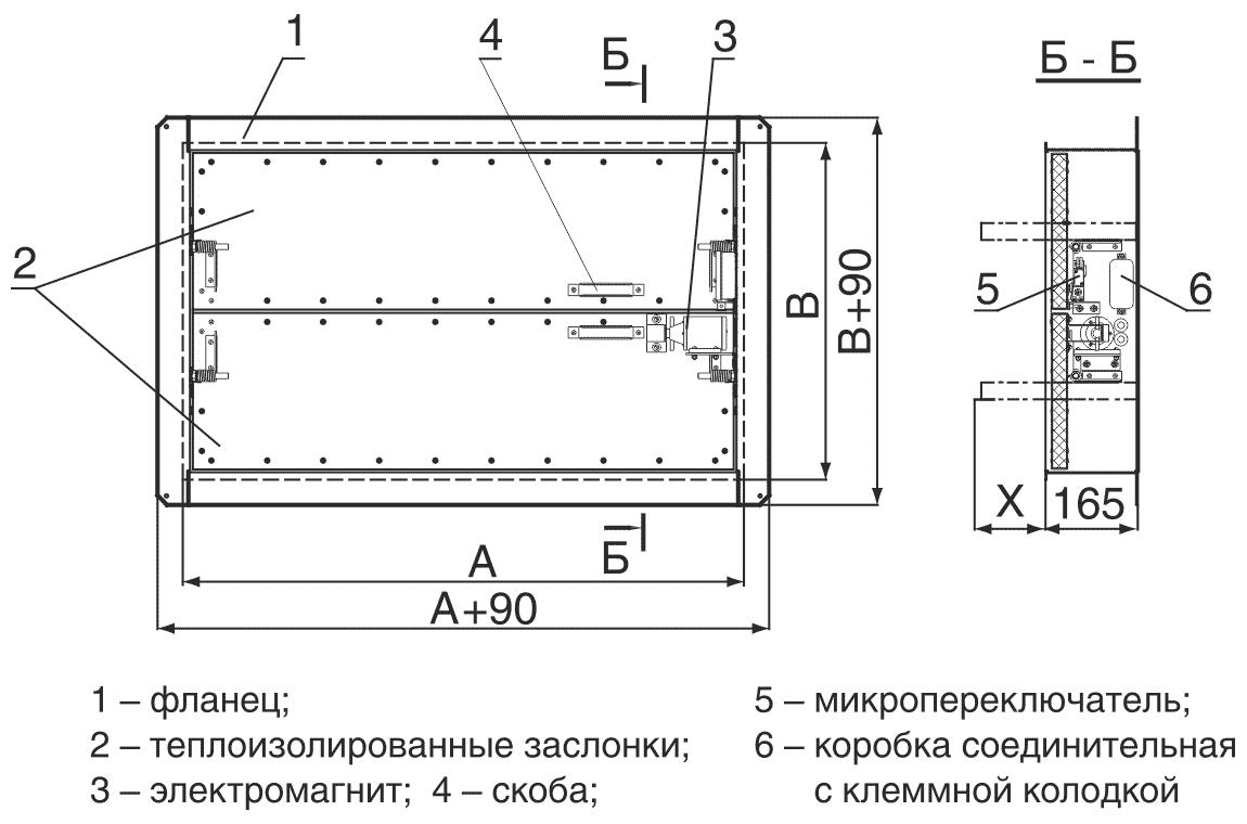 shema_konstruktsii_klapana_Klop_3_elektromagnitniy_privod
