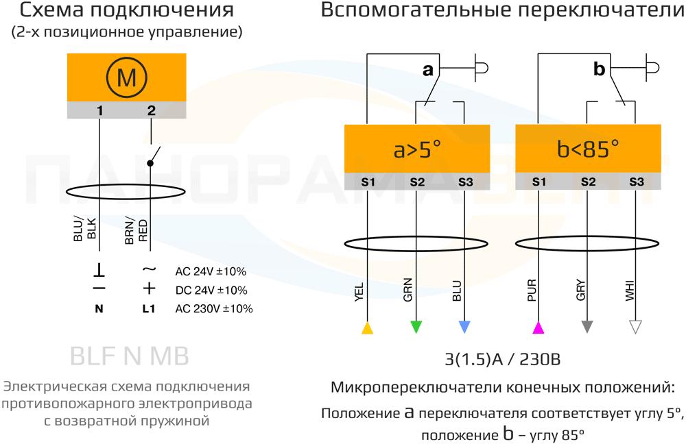 shema_podklyucheniya_elektroprivoda_BF_24_230_N2_MB_24V_230V_prujina