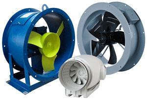 Разновидности осевых вентиляторов
